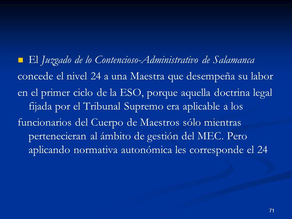 El Juzgado de lo Contencioso-Administrativo de Salamanca