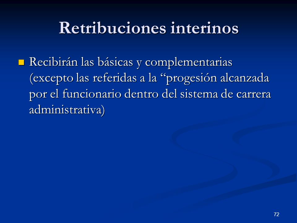 Retribuciones interinos