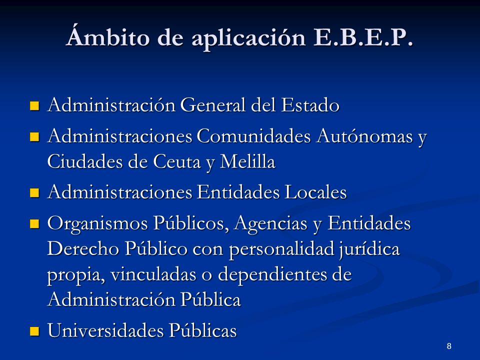 Ámbito de aplicación E.B.E.P.