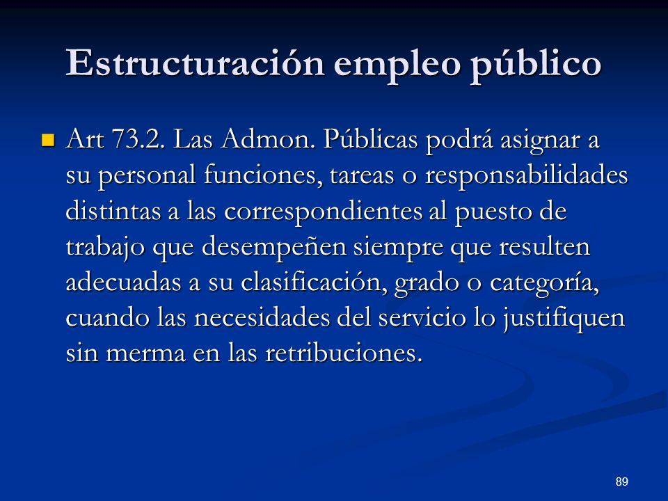 Estructuración empleo público