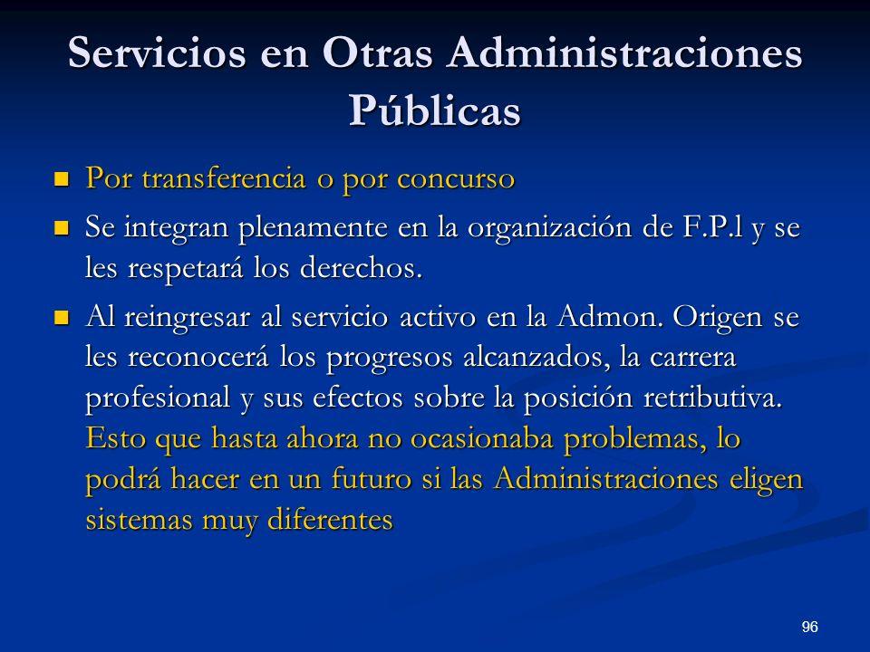 Servicios en Otras Administraciones Públicas