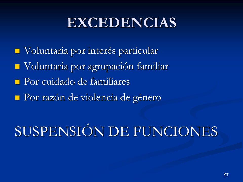 SUSPENSIÓN DE FUNCIONES