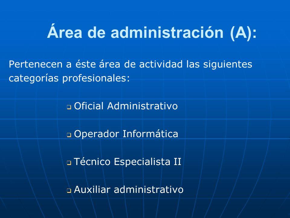 Área de administración (A):
