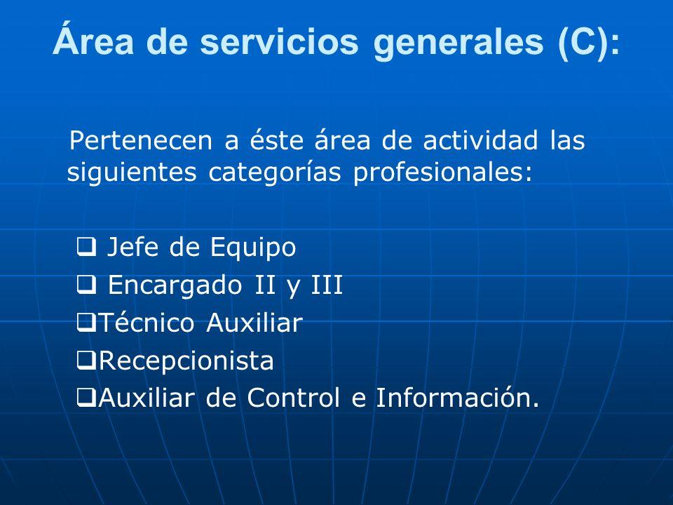 Área de servicios generales (C):
