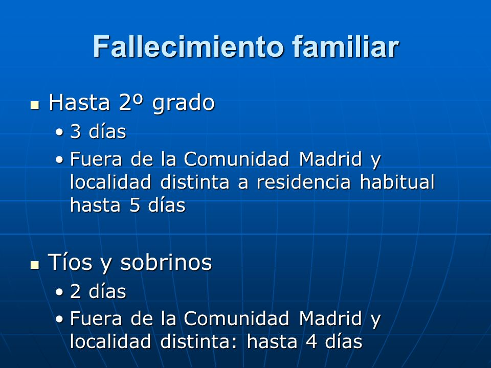 Fallecimiento familiar