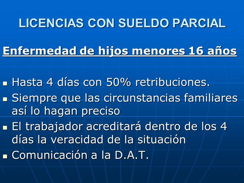 LICENCIAS CON SUELDO PARCIAL