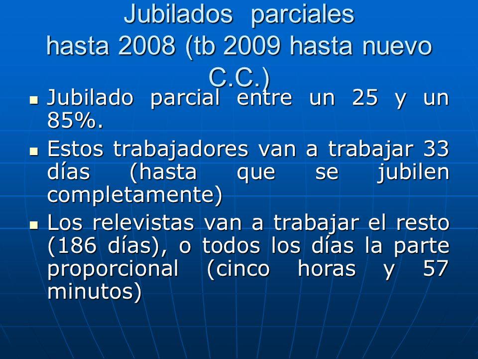 Jubilados parciales hasta 2008 (tb 2009 hasta nuevo C.C.)