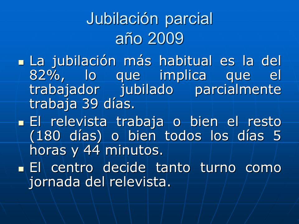 Jubilación parcial año 2009