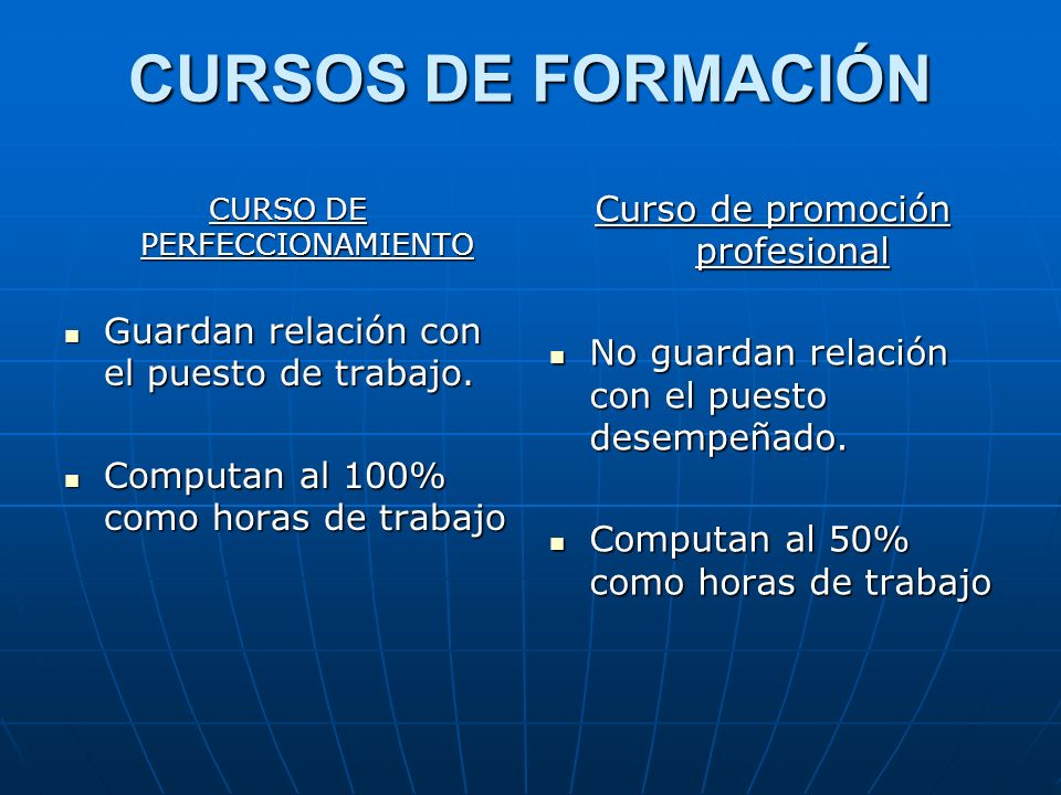 CURSOS DE FORMACIÓN Curso de promoción profesional