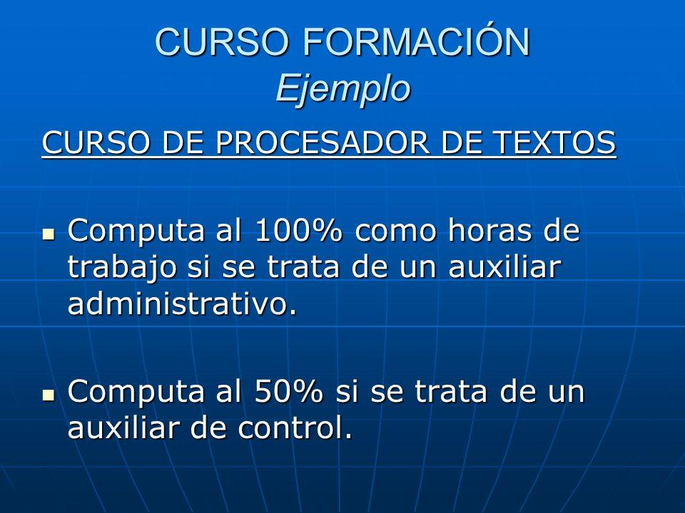 CURSO FORMACIÓN Ejemplo