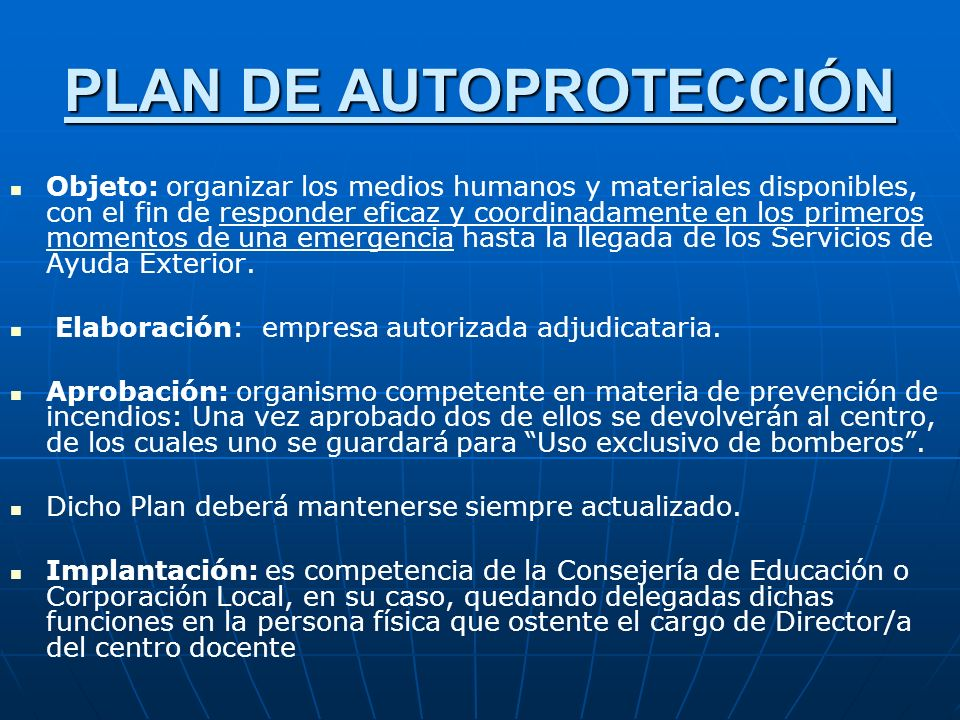 PLAN DE AUTOPROTECCIÓN