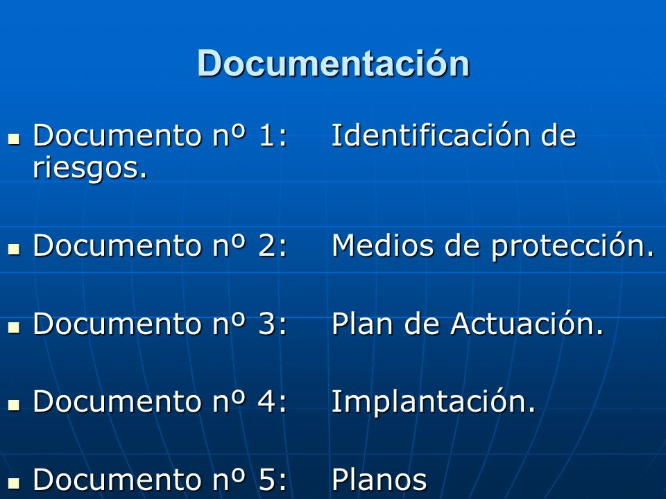 Documentación Documento nº 1: Identificación de riesgos.
