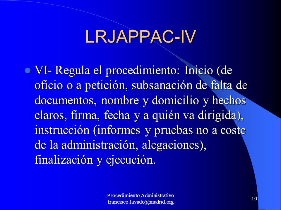 Procedimiento Administrativo francisco.lavado@madrid.org