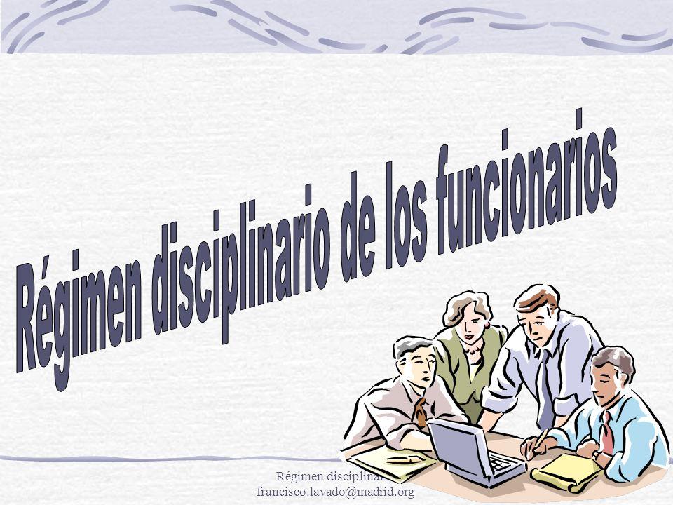 Régimen disciplinario de los funcionarios