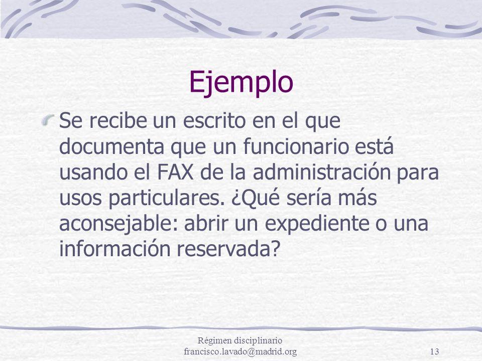 Régimen disciplinario francisco.lavado@madrid.org