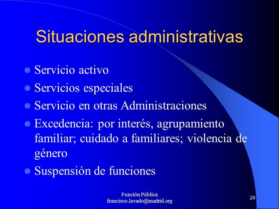 Situaciones administrativas