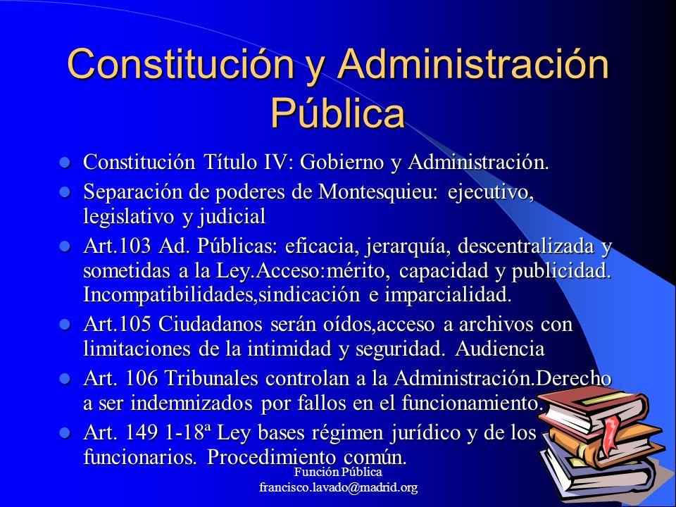 Constitución y Administración Pública
