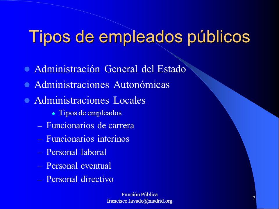 Tipos de empleados públicos