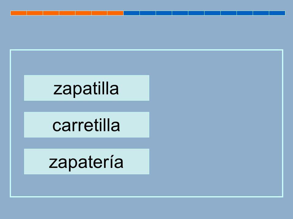 zapatilla carretilla zapatería