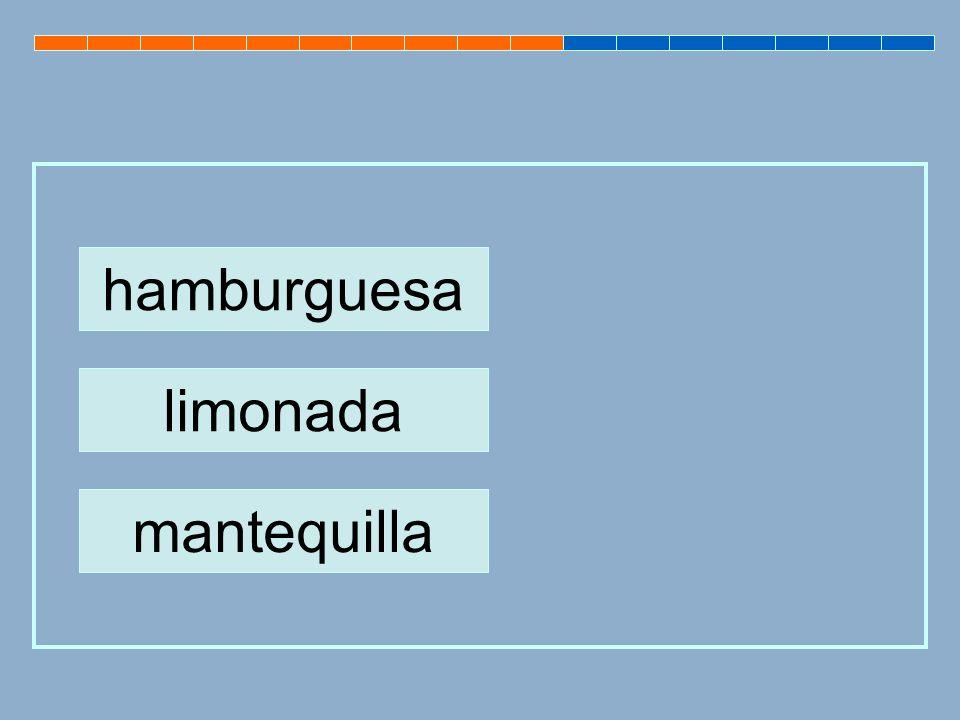 hamburguesa limonada mantequilla