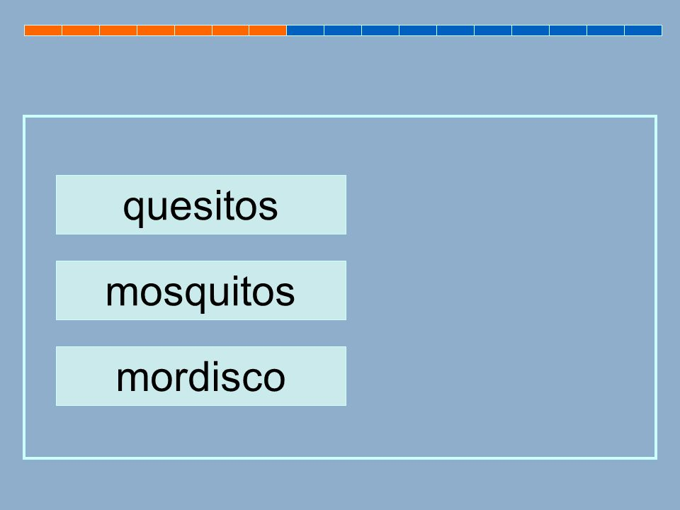 quesitos mosquitos mordisco