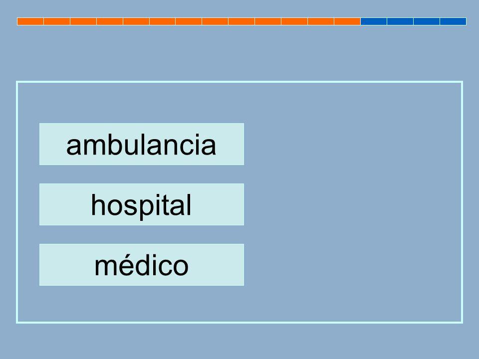 ambulancia hospital médico