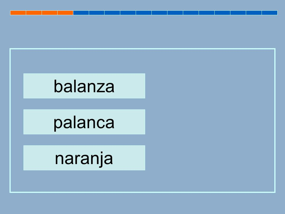 balanza palanca naranja