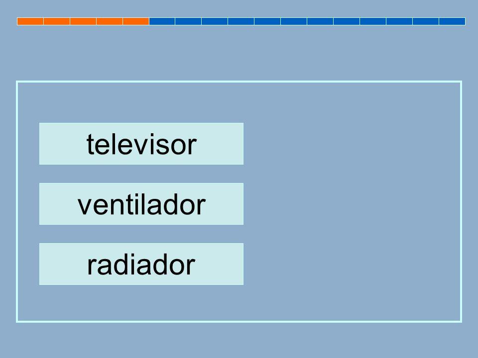 televisor ventilador radiador
