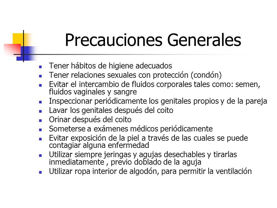 Precauciones Generales