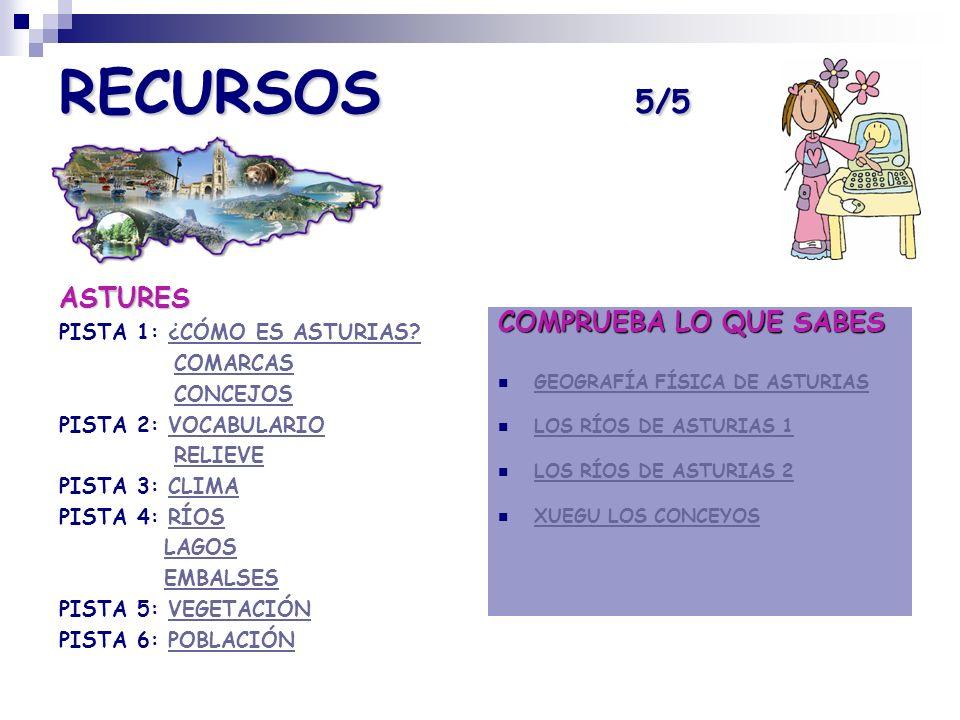 RECURSOS 5/5 ASTURES COMPRUEBA LO QUE SABES