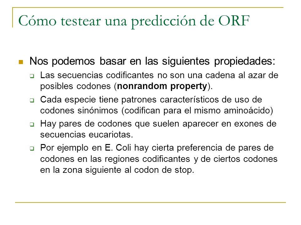 Cómo testear una predicción de ORF