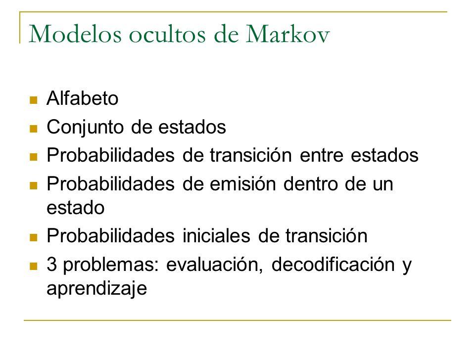 Modelos ocultos de Markov