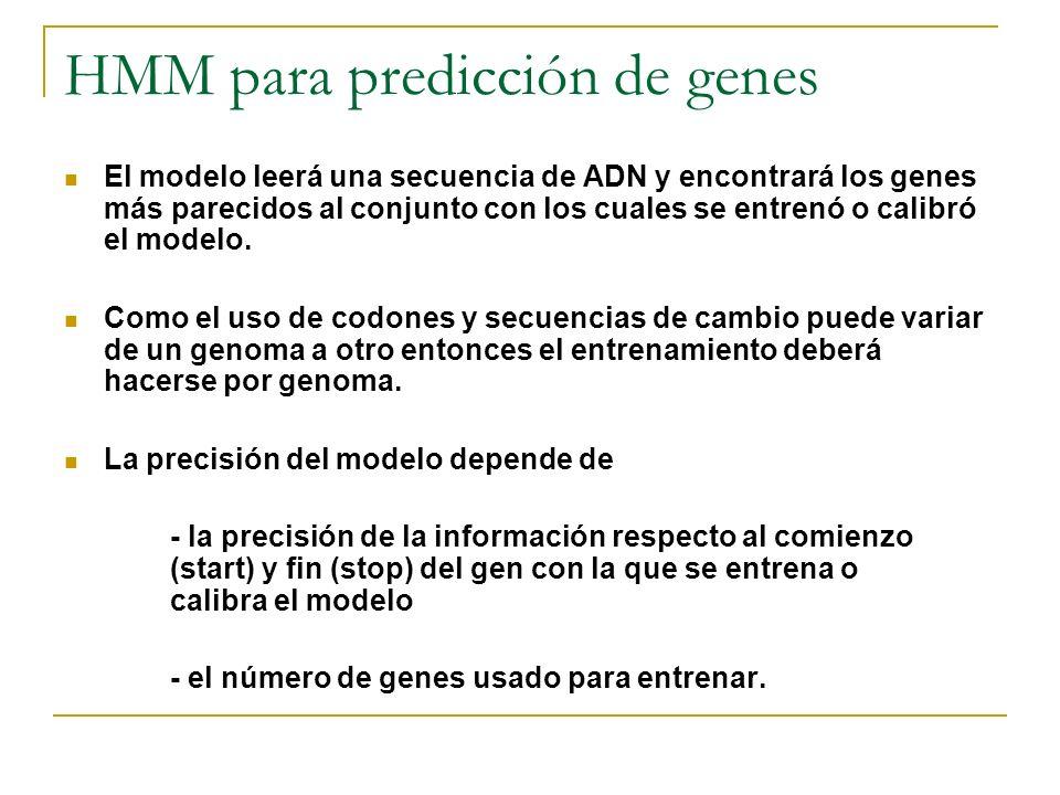 HMM para predicción de genes
