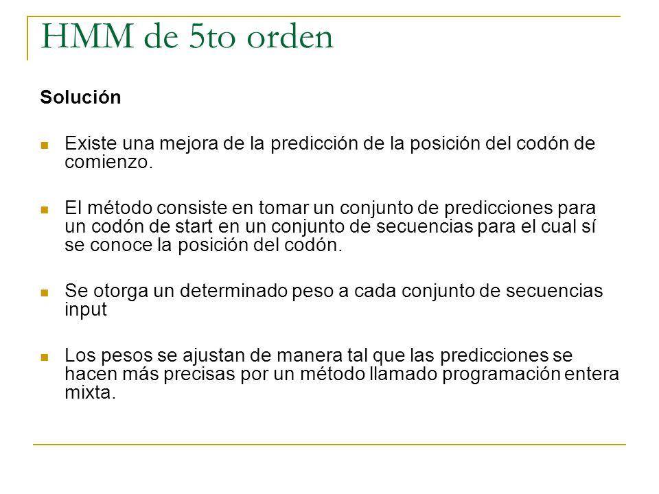 HMM de 5to orden Solución