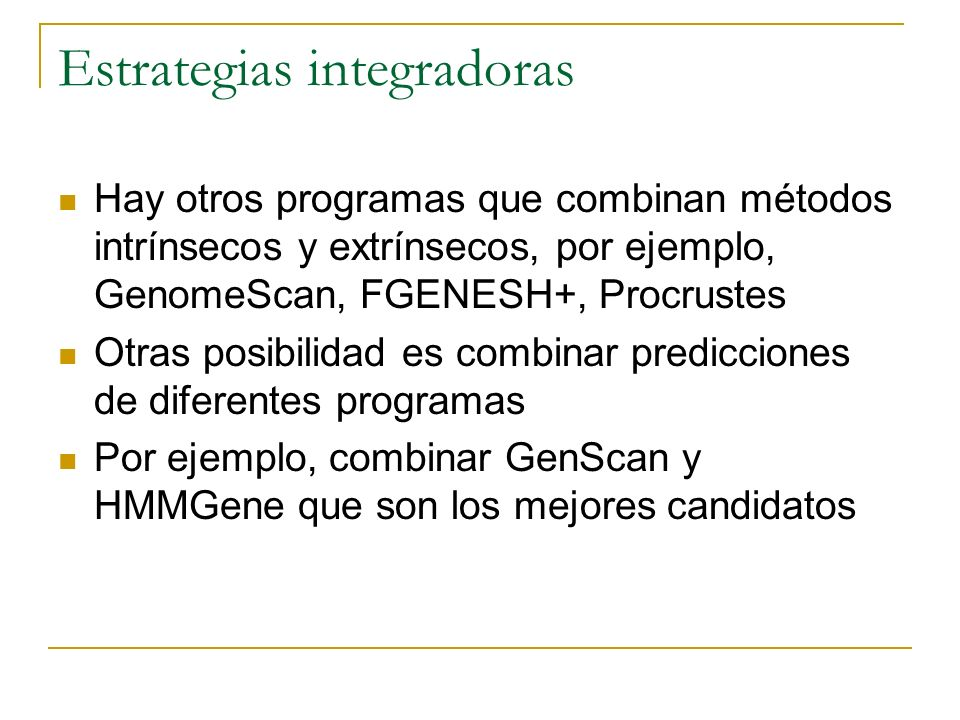 Estrategias integradoras