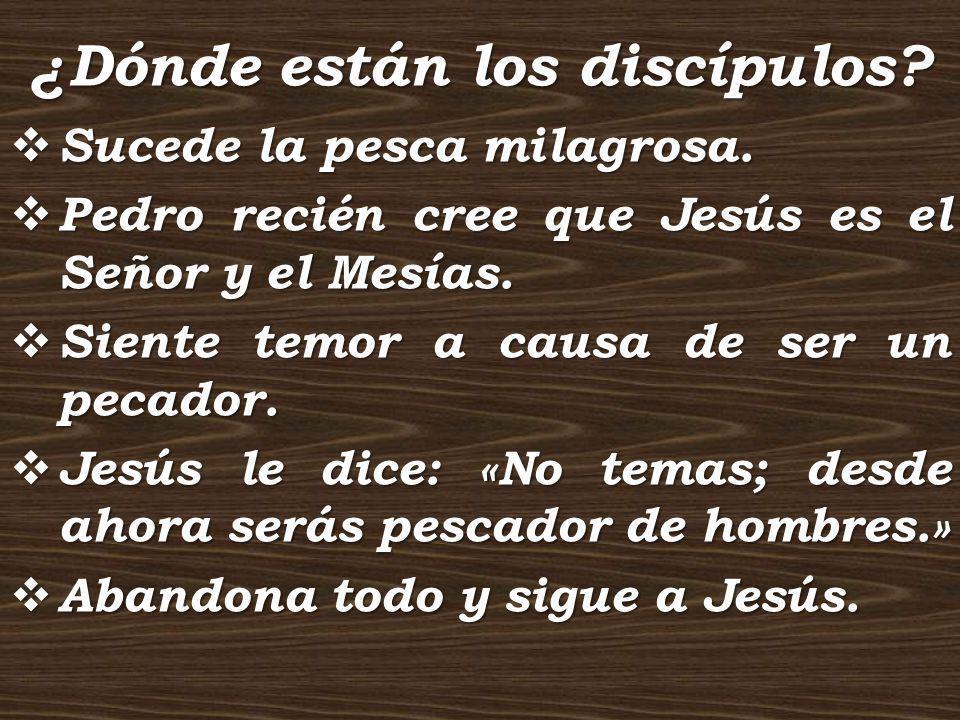 ¿Dónde están los discípulos