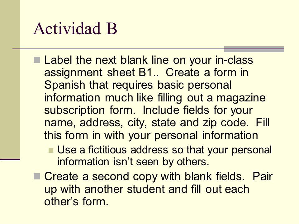 Actividad B