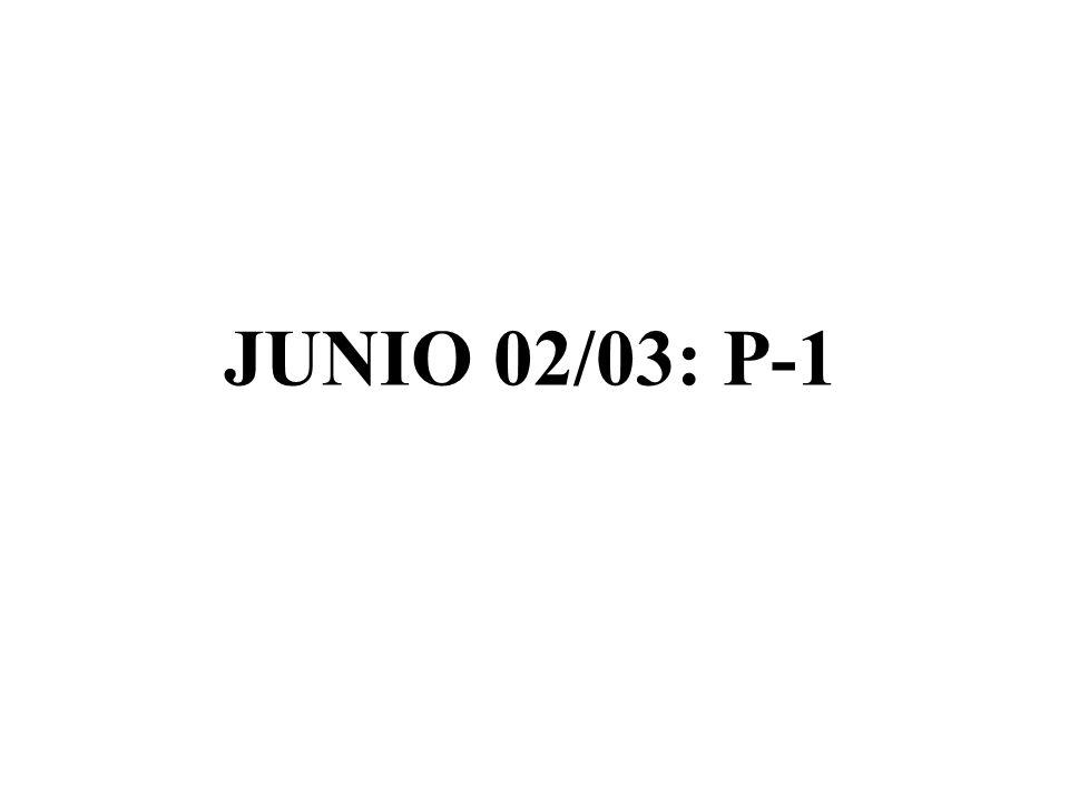 JUNIO 02/03: P-1