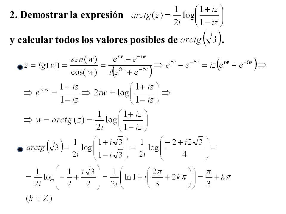2. Demostrar la expresión