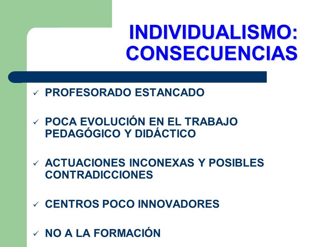 INDIVIDUALISMO: CONSECUENCIAS