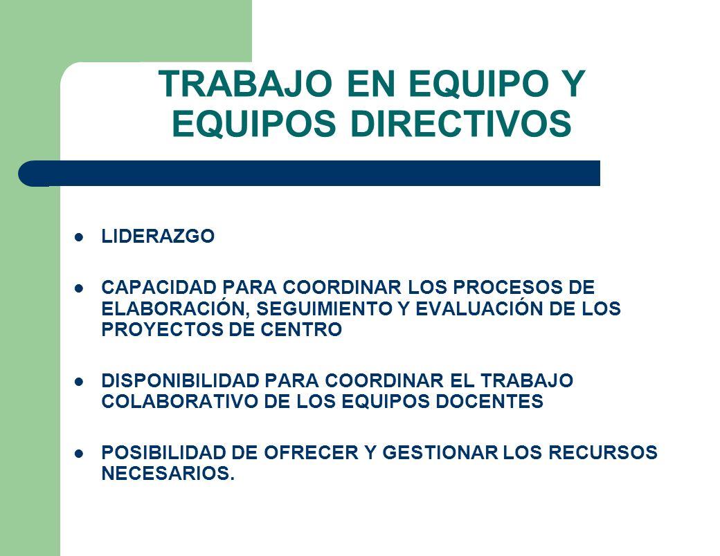 TRABAJO EN EQUIPO Y EQUIPOS DIRECTIVOS