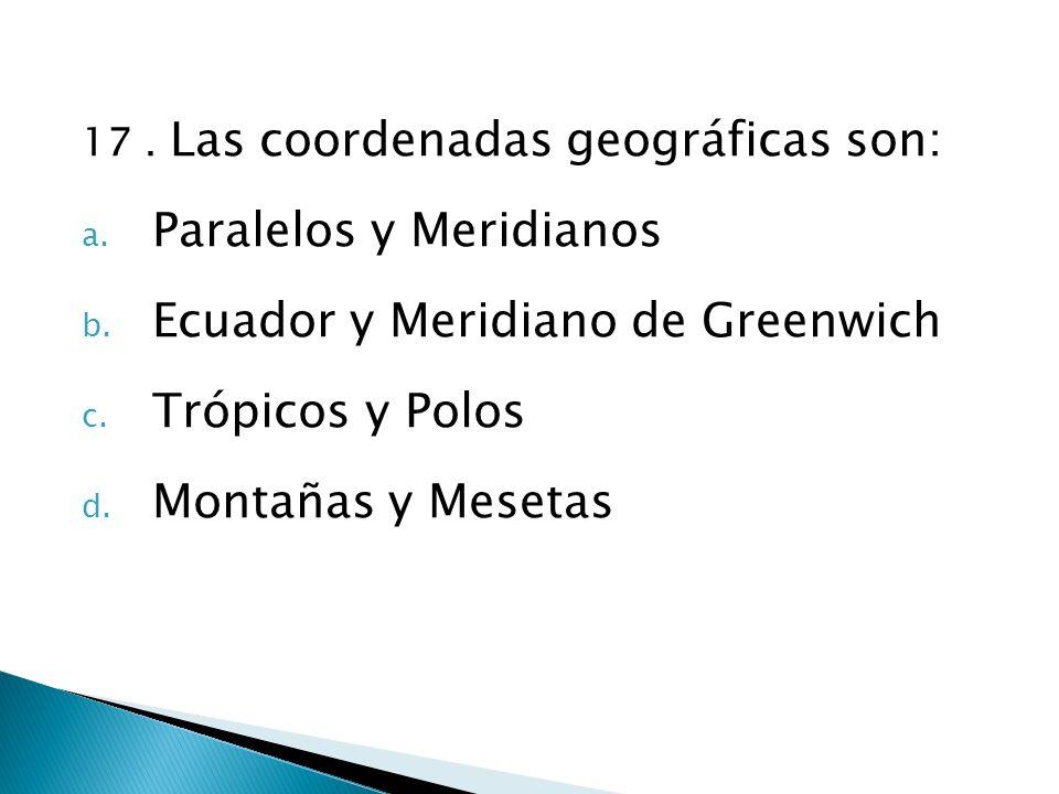 Paralelos y Meridianos Ecuador y Meridiano de Greenwich