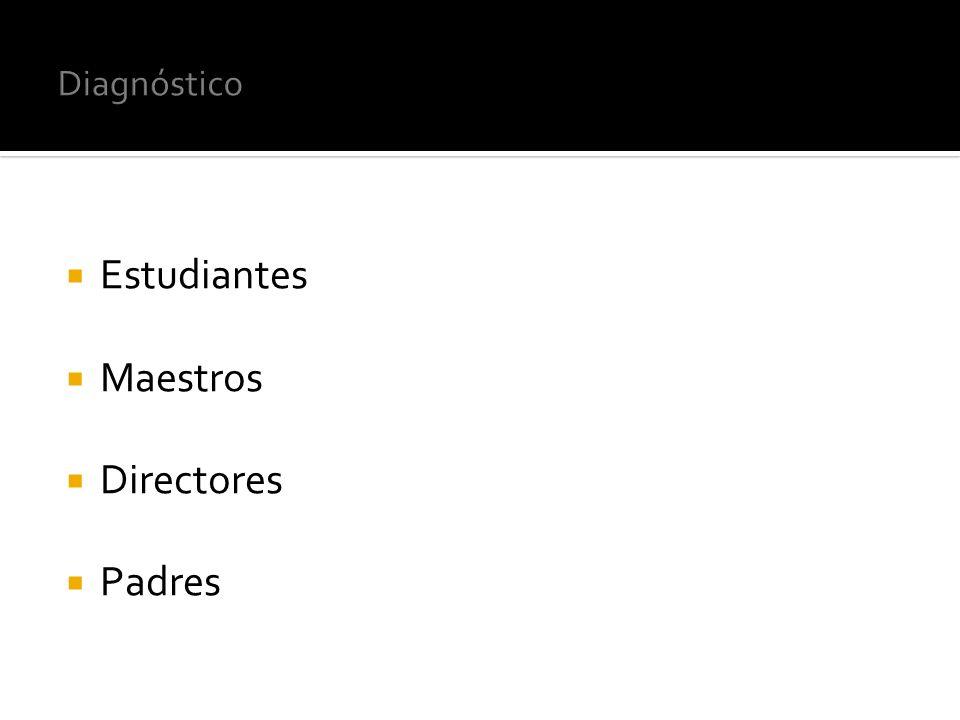 Diagnóstico Estudiantes Maestros Directores Padres