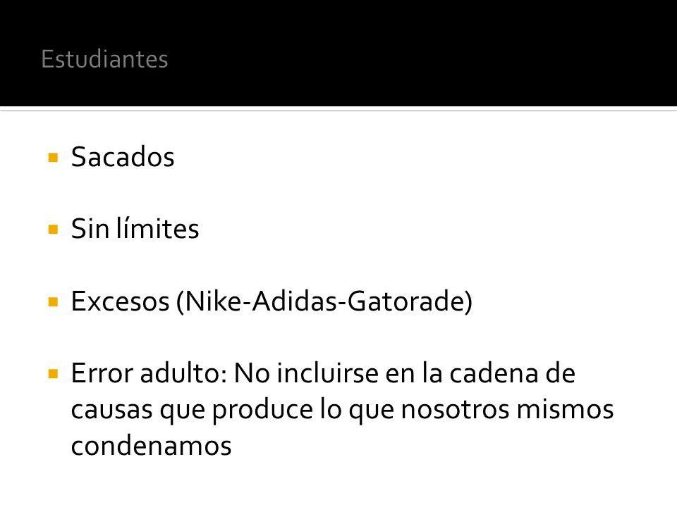 Excesos (Nike-Adidas-Gatorade)