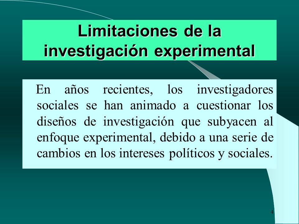 Limitaciones de la investigación experimental