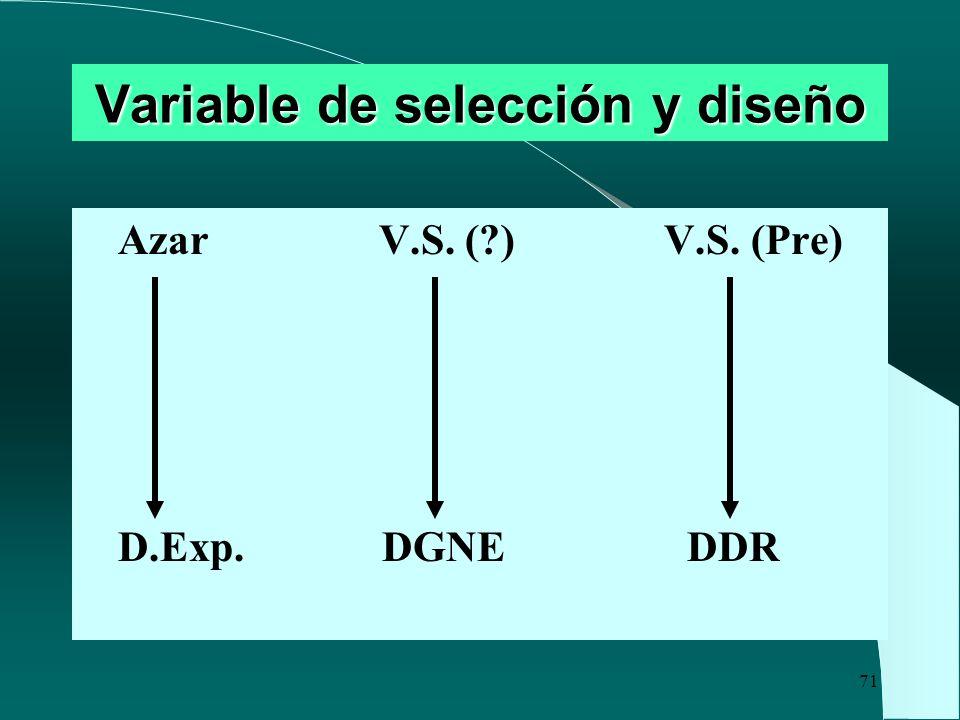 Variable de selección y diseño