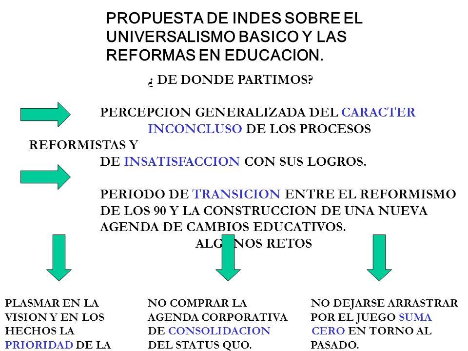 PROPUESTA DE INDES SOBRE EL. UNIVERSALISMO BASICO Y LAS