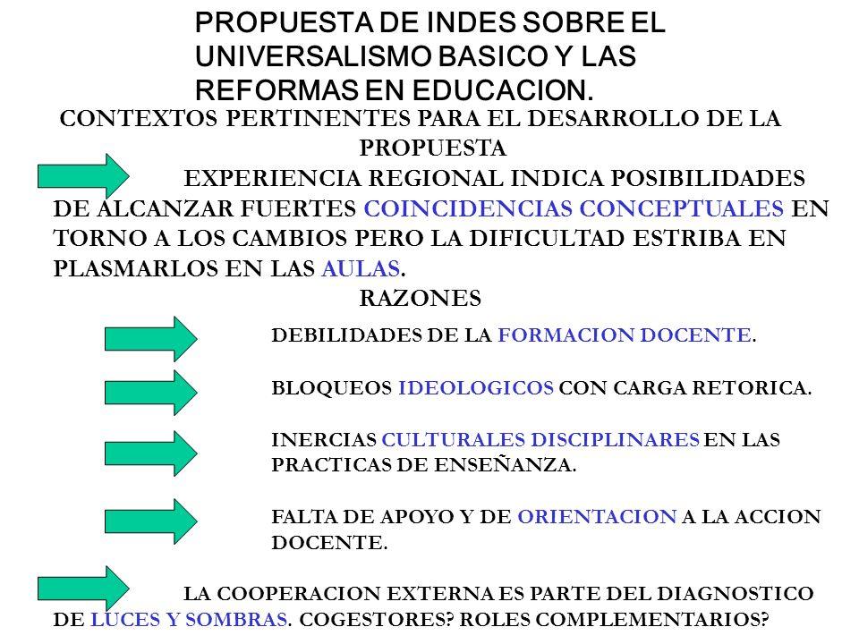 DEBILIDADES DE LA FORMACION DOCENTE.