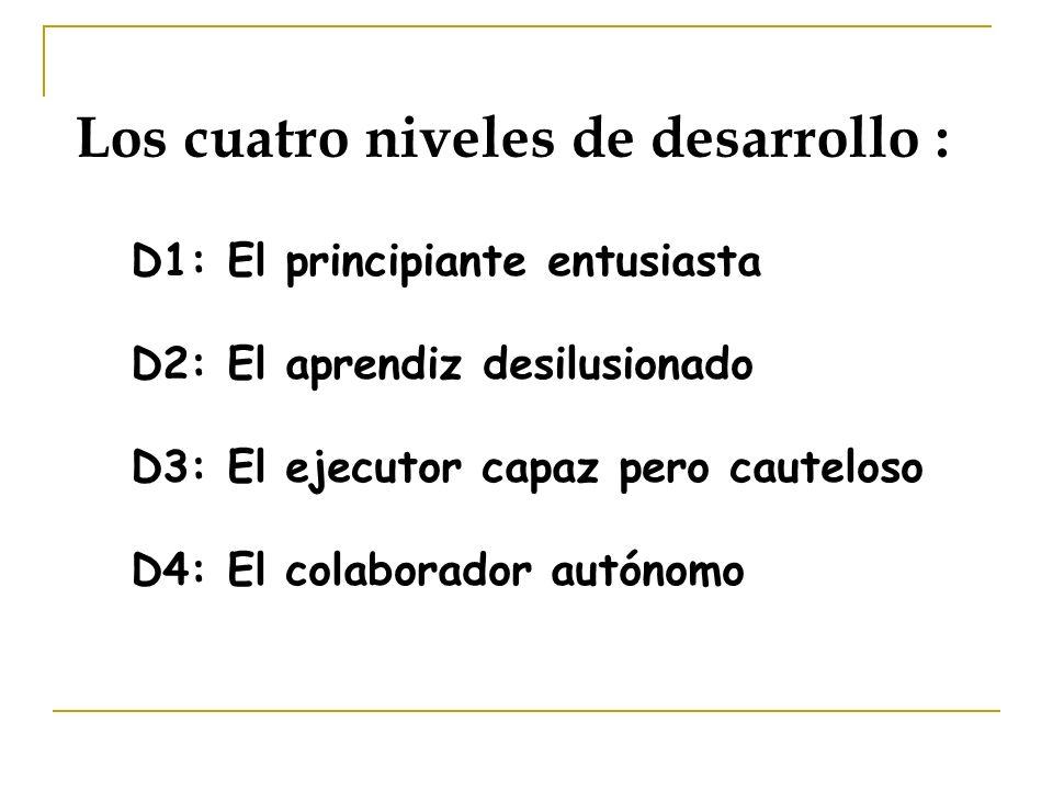 Los cuatro niveles de desarrollo :