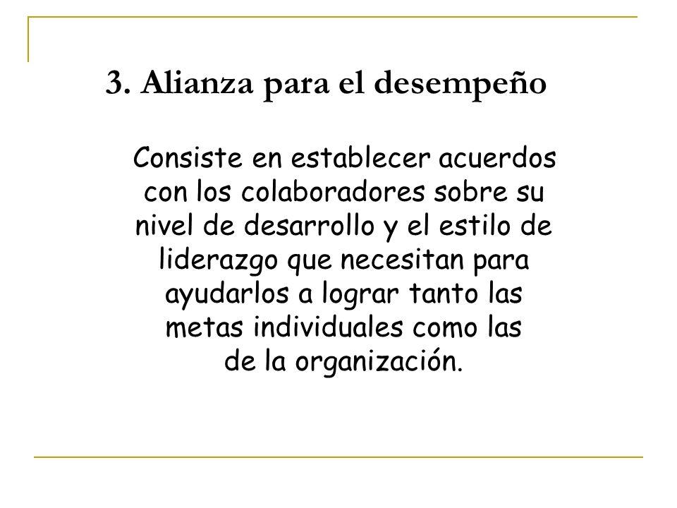 3. Alianza para el desempeño